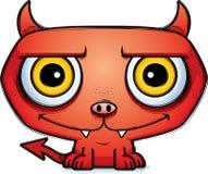 Smiling Little Cartoon Devil. A cartoon illustration of a little devil smiling Stock Images