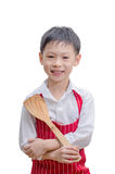 Smiling little cook with flipper Royalty Free Stock Images
