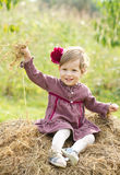 Smiling little country girl Royalty Free Stock Photography