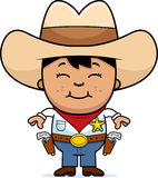 Smiling Little Cowboy Royalty Free Stock Photos