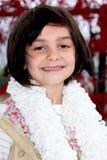 Smiling little dark haired girl Royalty Free Stock Photo