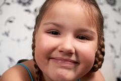 A smiling little girl. Royalty Free Stock Photography