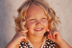 Smiling little girl. Stock Photos