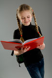 Smiling little girl with a book Royalty Free Stock Photography