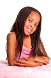 Smiling Little Girl With Braids Stock Photos