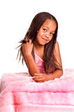 Smiling Little Girl With Braids Royalty Free Stock Photography