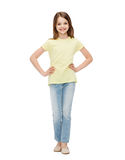 Smiling little girl in casual clothes Stock Photo
