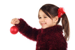 Smiling little girl with Christmas decoration Stock Image