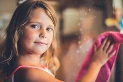 Worthy little girl. stock image