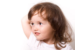 Smiling little girl closeup portrait Stock Images