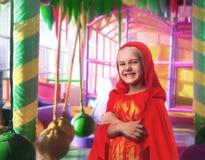 Smiling little girl in costume Stock Image