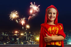 Smiling little girl in costume Stock Image