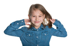 Smiling little girl with flowing hair Royalty Free Stock Photo