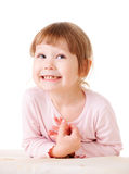Smiling little girl happy portrait Royalty Free Stock Photography