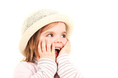 Smiling little girl in hat Royalty Free Stock Photography