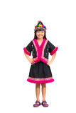 Smiling little girl with hill tribe dress Royalty Free Stock Image