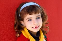 Smiling little girl indented Royalty Free Stock Photos