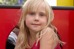 Smiling Little Girl outdoor Royalty Free Stock Image