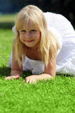 Smiling little girl outdoor Royalty Free Stock Photography