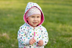 Smiling little girl outdoors Royalty Free Stock Photography