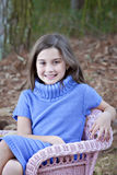 Smiling little girl outdoors Royalty Free Stock Image