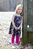 Smiling little girl outdoors Stock Image