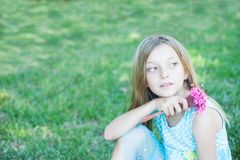 Smiling Little Girl outdoor Stock Images