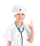 Smiling little girl playing doctor Royalty Free Stock Photos