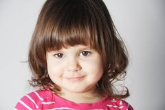 Smiling Little Girl Portrait Royalty Free Stock Images
