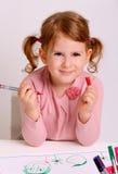 Smiling little girl portrait Stock Photography