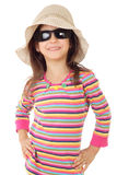 Smiling little girl in sunglasses Royalty Free Stock Image