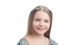 Smiling little girl with teeth braces Stock Photos