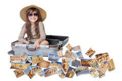 Smiling little girl travel Egypt concept Royalty Free Stock Photo