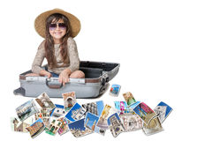 Smiling little girl travel Venice concept Stock Photography