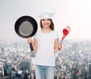 Smiling little girl in white blank t-shirt Royalty Free Stock Photo