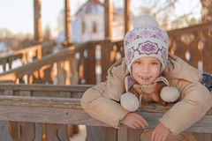 Smiling little girl in winter Royalty Free Stock Photography
