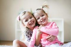 Smiling little girls. royalty free stock photo