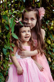 Smiling little girls Royalty Free Stock Photography