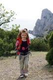 Smiling little hiker Stock Photo