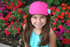 Smiling little hispanic girl Stock Photos
