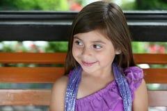 Smiling little hispanic girl Stock Images