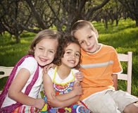 Smiling little kids Stock Photo