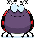 Smiling Little Ladybug Royalty Free Stock Photography