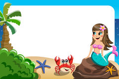 Free Smiling Little Mermaid Frame Stock Images - 79885974