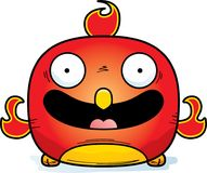 Smiling Little Phoenix. A cartoon illustration of a phoenix bird smiling Stock Photo