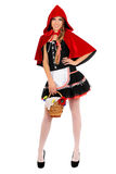 Smiling Little Red Riding Hood Royalty Free Stock Image