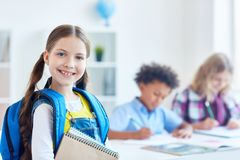 Successful schoolgirl Stock Photography