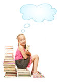 Smiling little schoolgirl Royalty Free Stock Image