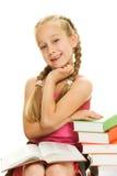 Smiling little schoolgirl Royalty Free Stock Photo