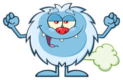 Smiling Little Yeti Cartoon Mascot Character Royalty Free Stock Photography